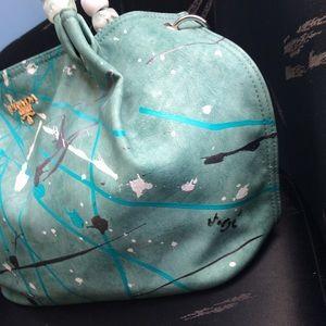 authentic light blue prada bag